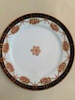 """Vintage (Pre-1921) Hand-Painted NIPPON Moriage 11.5"""" Plate"""
