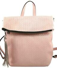 Patricia Nash LUZILLE Twisted Woven Leather Pink Convertible Backpack