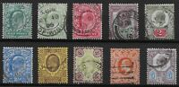 KEVII-1/2d.To 5d.-One of Each Value & Colour.  Fine/V.Fine Used.   Ref.0843