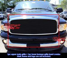 Fits Dodge Ram Regular Model Black Billet Grille Combo 02-05