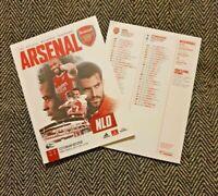 Arsenal v Tottenham Hotspur Spurs London Derby Premier League PROGRAMME 14/3/21!