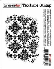 NEW Darkroom Door Rubber Texture Stamp Star