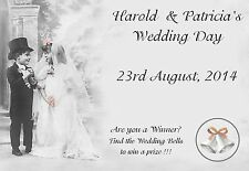 25 Personalised Wedding Scratch Cards - Wedding Favour, Wedding Party Game CD1