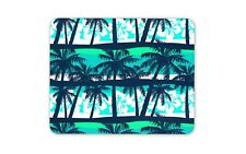 Blue Palm Trees Mouse Mat Pad - Hibiscus Flower Surf Cool Computer Gift #15619