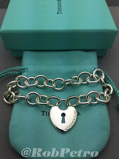 Tiffany & Co., 925 Heart Lock Key Hole Bracelet