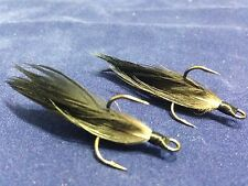 Xmarks Custom Feathered Trebles VMC 9650 BN 1x Strong Size 4 Smoked Green