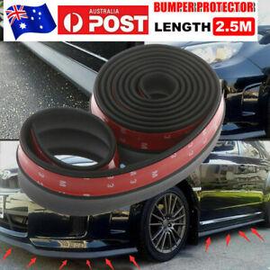 Universal Rubber Car Front Bumper Lip Skirt Protector Body Spoiler Splitter 2.5M