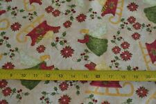 By 1/2 Yd, Sleighs & Angels, Quilting, Paintbrush/Christmas Mem/120-3111, M9098