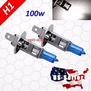 Super White 5000K 1 Pair H1 Halogen 100w Xenon Headlight Light Bulb High Beam