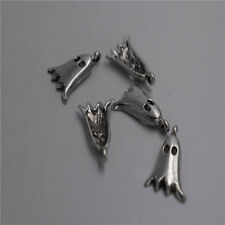 8pcs Antique silver ghost Charm pendants F0049