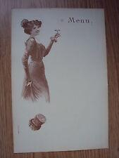 MENU ART NOUVEAU CHAMPAGNE MANUEL & cie à REIMS - 1900