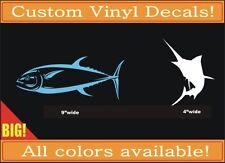 BIG! Tuna Marlin Fish vinyl decal car truck boat phone laptop sticker fishing