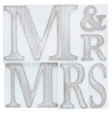 Mr and Mrs Printers Block Decorative Home Decor Wall Plaque