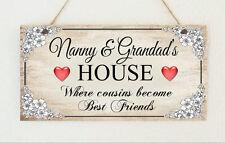 Personalisierte Tafel Nan Grandma Gran Nanny & Opa S Haus Zeichen Cousins