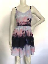 JACK Womens Zuzu Tie Dye Fit & Flare Strappy Back Dress Size 2