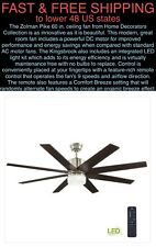 "*FREE SHIP* Zolman Pike 60"" LED DC Brushed Nickel Ceiling Fan w/Light Kit/Remote"