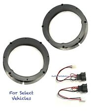 "2 6.5"" Door Speaker Adapter Mount Plates + Speaker Harness for some 1995-Up VW"