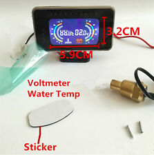 2 In 1 12V / 24V Car LCD Digital Display Voltmeter Water Temp Temperature Guage
