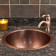 "Signature Hardware 18"" Baina Extra Deep Round Copper Sink"