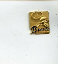 Original 1969 Atlanta Braves Phantom World Series Press Pin