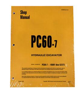 Komatsu PC60-7 Excavator Workshop Repair Service Manual  Part Number #SEBM004101