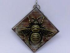 Vintage Retro  BUMBLE BEE Pendant CHARM HORIZON 2 INCH NEW W/ GLASS ACCENTS