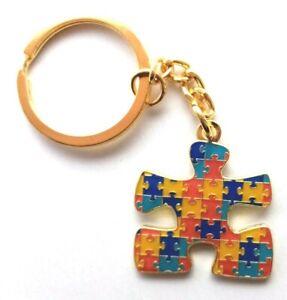 Jigsaw Puzzle Keyring Key Ring  Autism Awareness Autistic