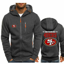 San Francisco 49ers Fans Hoodie Men Jacket Full Sweatshirts warm Coat Autumn