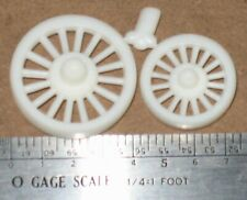 """O Circus Wagon Baggage Wheels Aprox. 36"""" F 48"""" R"""