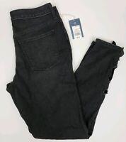 Universal Thread Women's Jeans Black Skinny Leg Tie Cuff High Rise Sizes 00-16