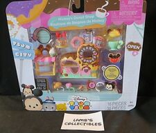 Disney Tsum tsum vinyl stackable set 16 pieces Mickey's Donut shop figures toy
