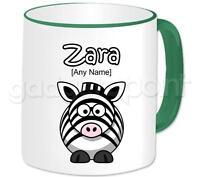 Personalised Gift Animal Zebra Mug Coffee Cup Fun Birthday Present Idea Any Name