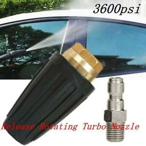 3600PSI High Pressure Washer Release Jet Wash Quick Rotating Turbo Nozzle Tip UK