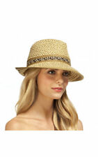 Eric Javits Womens Big Deal Squishee Hat Peanut Brown Woven Accessory ffa42084aed