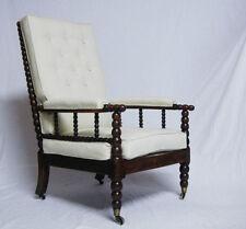 Beech Armchairs Queen Anne Antique Furniture