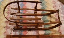 VINTAGE WOODEN BABY/TOY SLEIGH