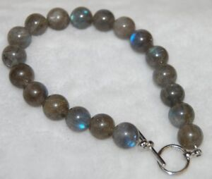 Charged Labradorite AAA Grade Gemstone Bracelet (1) With Toggle Helps the Immune