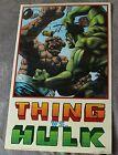 THING VS HULK Battle 1991 Matt Wagner Painted Marvel Press Poster FN