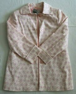 Next Girls Pink / Cream Floraled Trench Style Coat Age 6 BNWT RRP £26