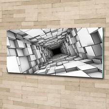 Glas-Bild Wandbilder Druck auf Glas 125x50 Deko Kunst Würfel Tunnel