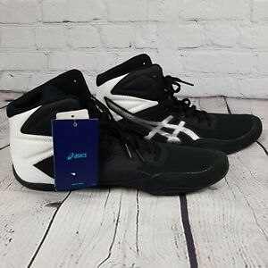 ASICS Mens Matflex 6 Black/Silver Wrestling Shoes Size 13 NEW 1081A021 Boxing