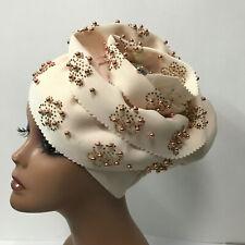 African Auto Gele Muslim Turban Head Wrap Nigerian Headtie Head Cap Already Made