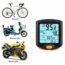 Wireless Bike Computer Speedometer Odometer Waterproof Bicycle Cycling Backlight
