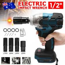 18V Cordless Impact Wrench Rattle Gun + 4PC Impact Socket For Makita Battery AU