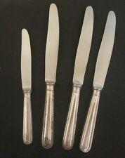 CHRISTOFLE : 3 grands et 1 petite couteaux métal argenté ménagère Knives