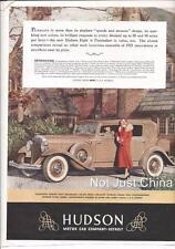 Advertisment - 1932 Hudson The Pacemaker, Hudson 8, Esmond Pelage Blankets