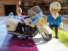 PLAYMOBIL 3564 MOTO POLICE VINTAGE COMPLET