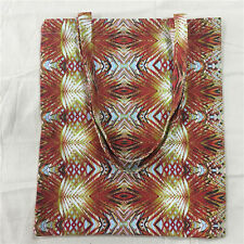 Cotton Canvas Shopping Tote Shoulder Bag Print Autumn Yellow Red Leaf 816S