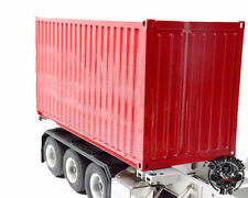 20 Fuß High Cube Container aus Stahl, Tamiya Maßstab, rot