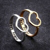 Love Heart Rings Best Friend Ring Gifts For Girls Friendship Jewelry BFF Women